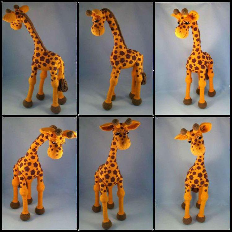 Большой жираф крючком подробная схема с описанием