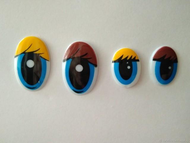 Глаза для игрушек из пластиковых ложек