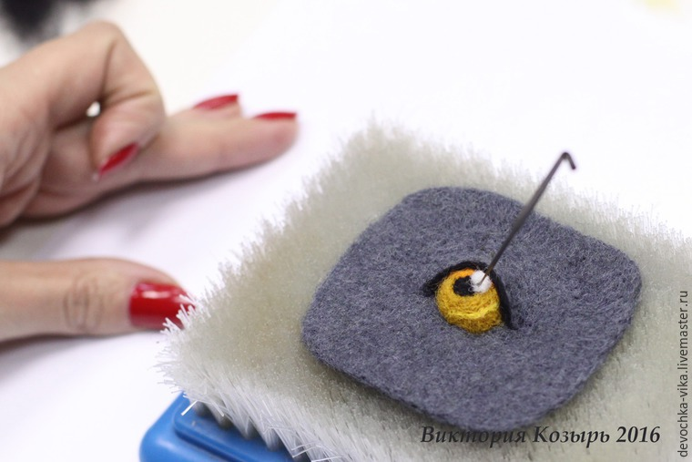 Глаза для вязаной игрушки из шерсти