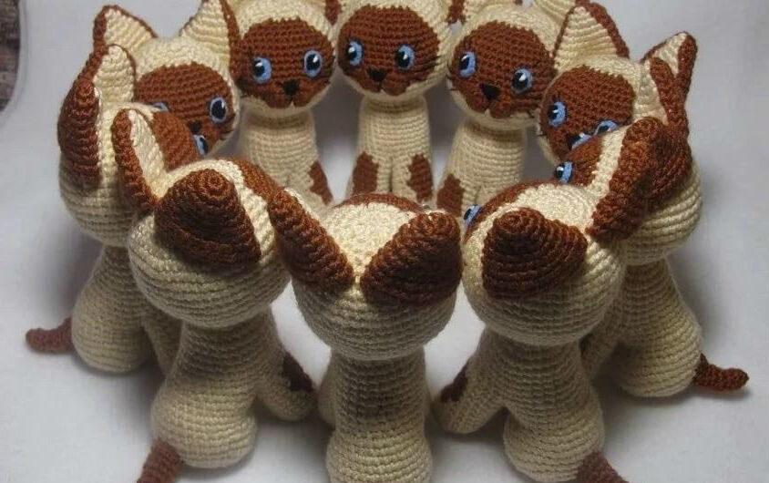 Амигуруми котенок Гав крючком