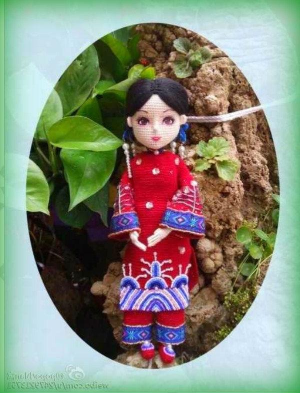 Кукла принцесса крючком с полным описанием наряда и куклыКукла принцесса крючком с полным описанием наряда и куклы
