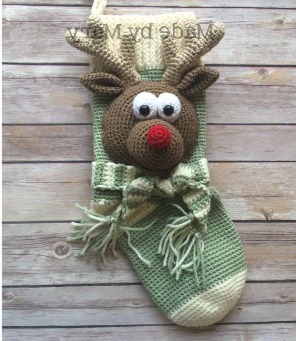 Новогодние носки крючком подборка схем для вязания