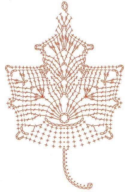 Схема осеннего листа