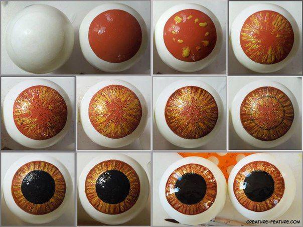 Глаза для игрушек из полимерной глины или пластики