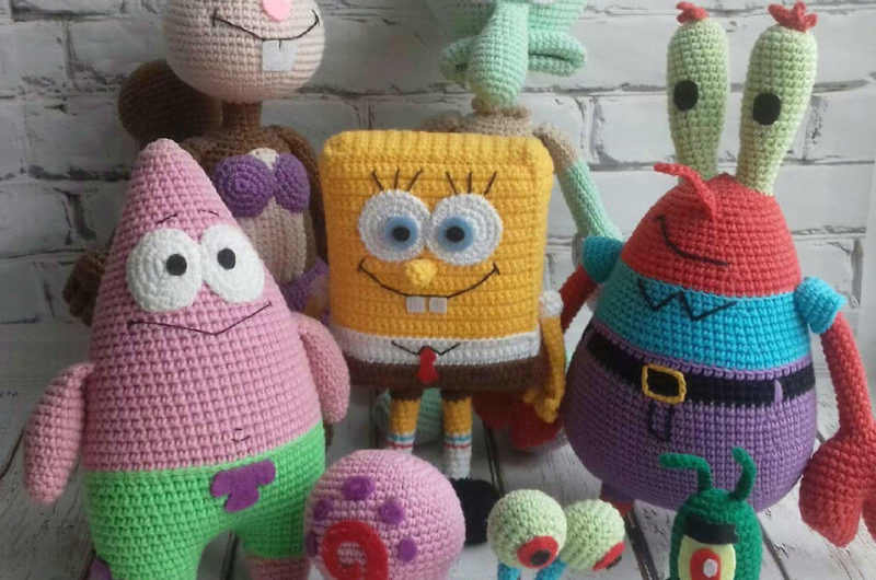 Амигуруми Губка Боб и его друзья