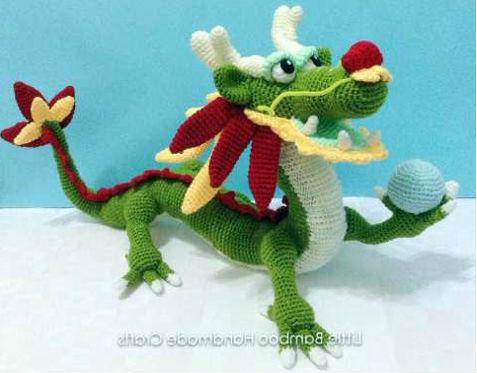 Амигуруми китайский дракон
