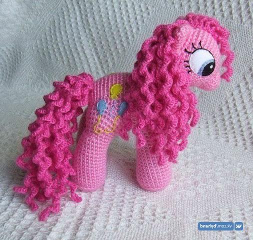 Схема вязания пони крючком подробный МК для розовой пони