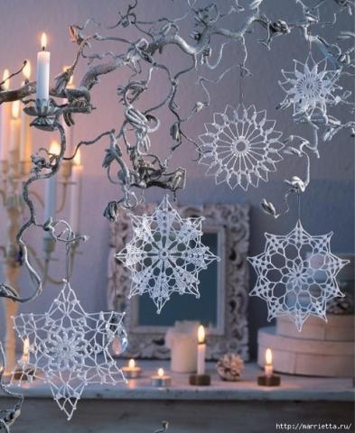 Схема вязания снежинок крючком подборка схем вязания снежинок1