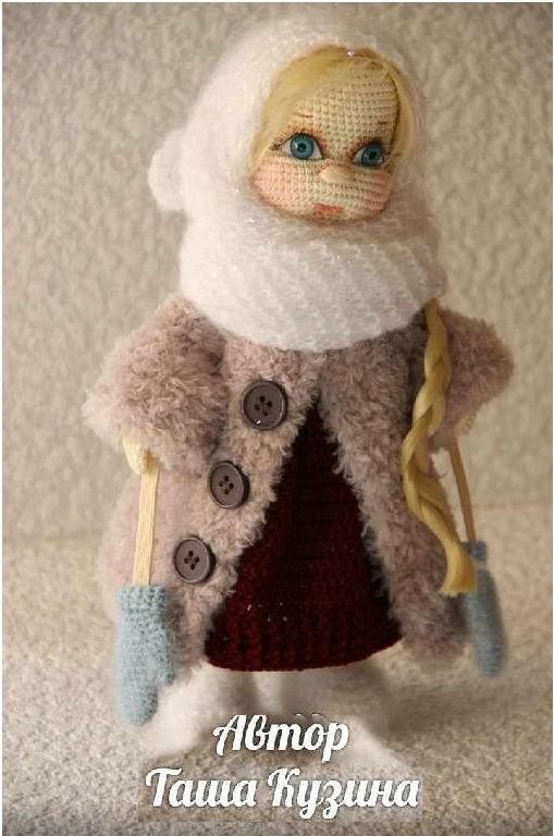 Схемы кукол амигуруми. Зимняя девочка крючком