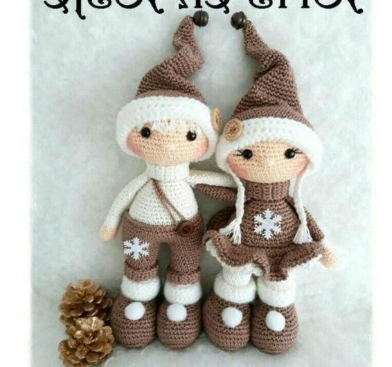 Амигуруми новогодние куклы крючком