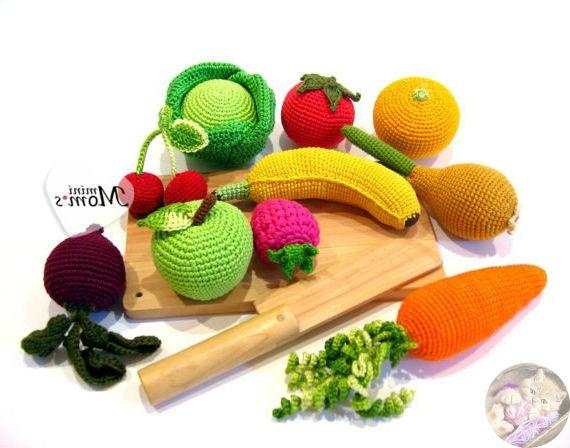 Вязаные овощи крючком большая подборка схем вязания