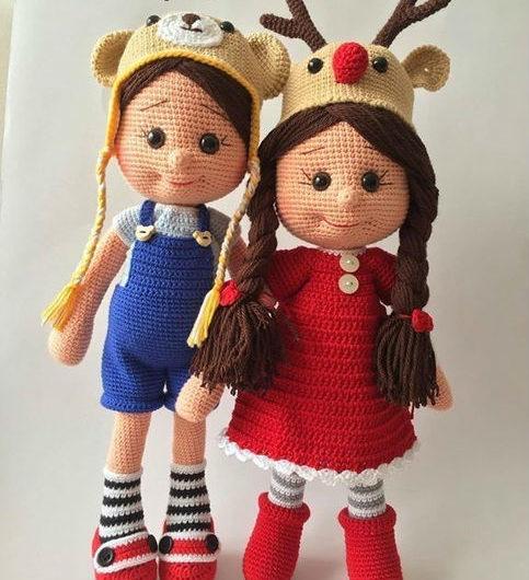 Простая схема вязания куклы Оливии