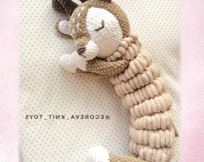 Пижамница в виде олененка из плюша