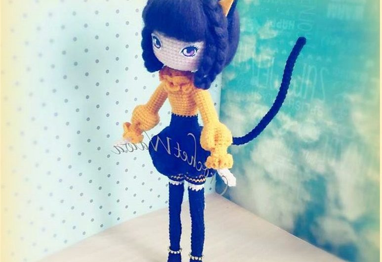 Девушка кошка крючком: пошаговый МК по вязанию