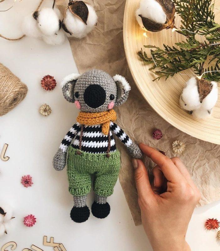 Амигуруми коала крючком с описанием схемы вязания