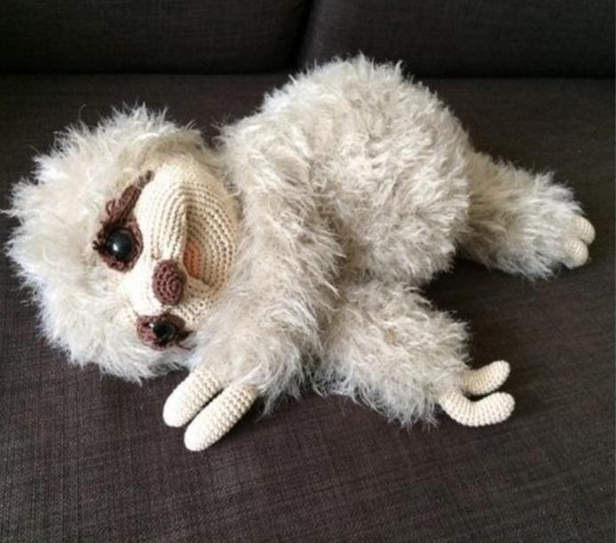 Амигуруми ленивец крючком пошаговый мастер - класс по вязанию