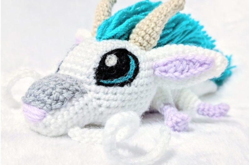 Схема вязания маленького дракона Хаку крючком