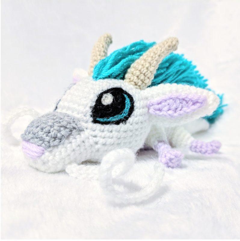 Амигуруми маленький дракон Хаку крючком с описанием и переводом