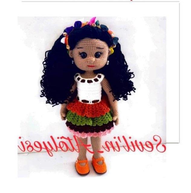 Амигуруми смуглая кукла брюнетка крючком с полным переводом