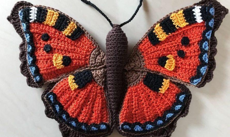 Амигуруми бабочка крючком
