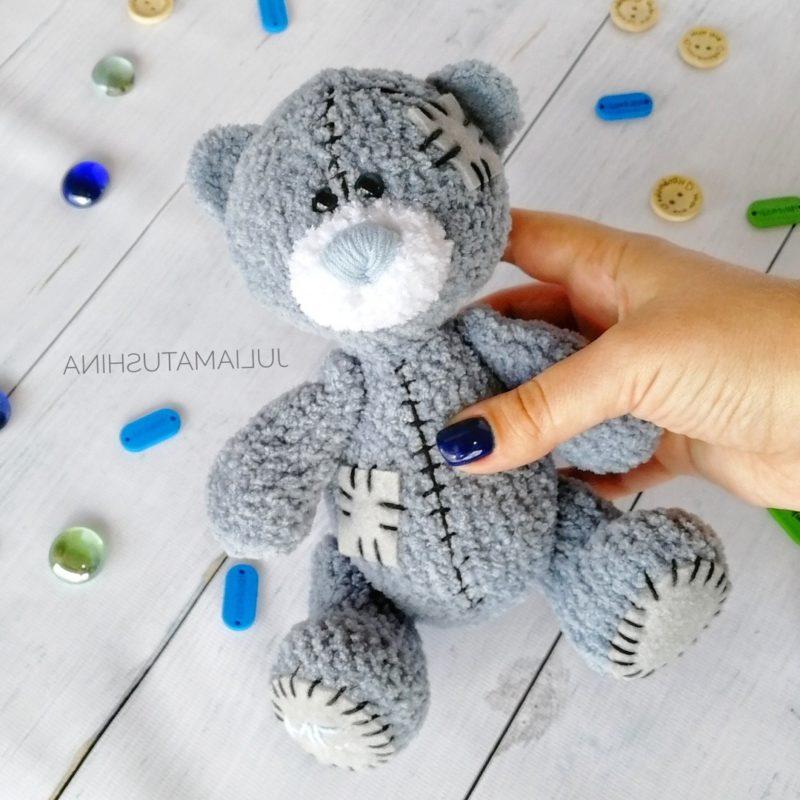 Схема медвежонка Тедди крючком с полным описанием работы