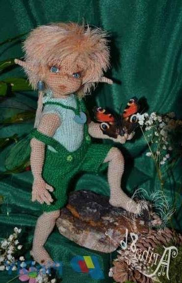 Схема вязания мальчика эльфа крючком с полным описанием и фото