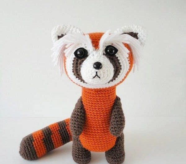 Мастер — класс по вязанию красной панды крючком