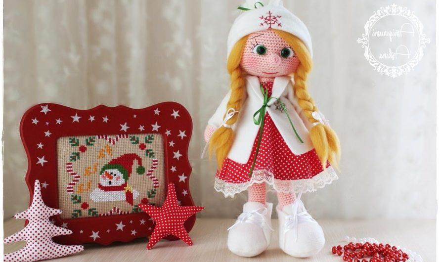 Кукла снегурочка крючком с переводом