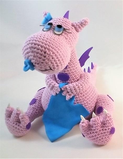 Схема вязания малыша дракона с подробным описанием и переводом