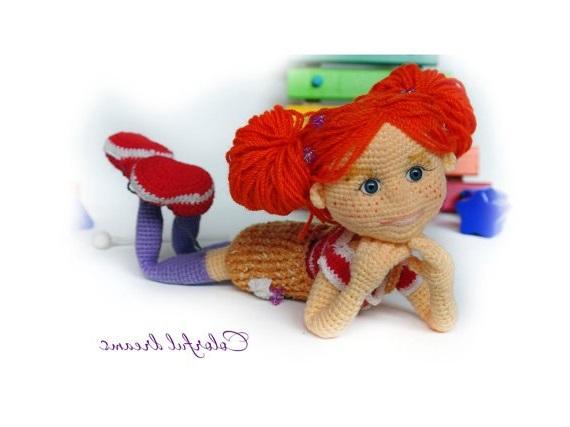 Схема вязания рыжей куклы с описанием работы