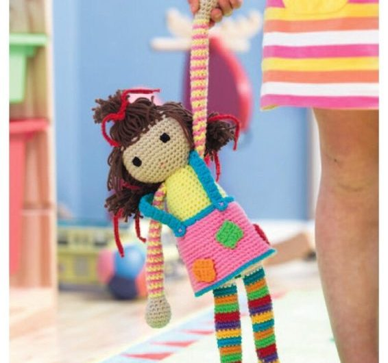 Схема вязания цветной куклы крючком