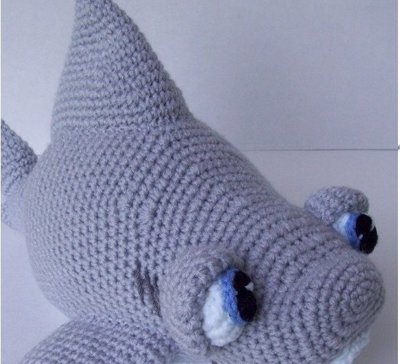 Амигуруми акула крючком с описанием схемы вязания