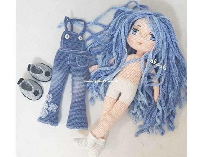 Схема вязания куклы с одеждой