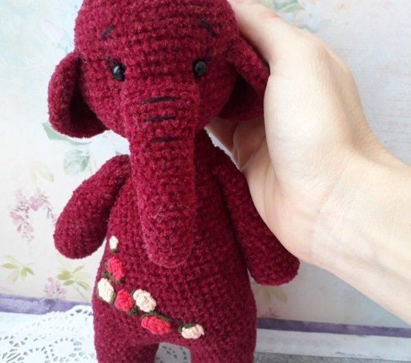 Простая схема вязания слоника крючком