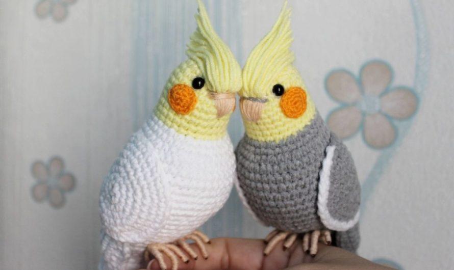 Амигуруми попугай корелла крючком