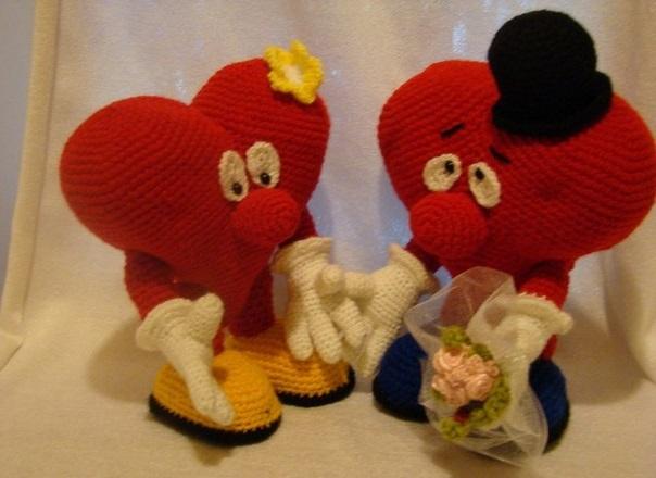 Сердечки валентинки крючком с описанием схемы