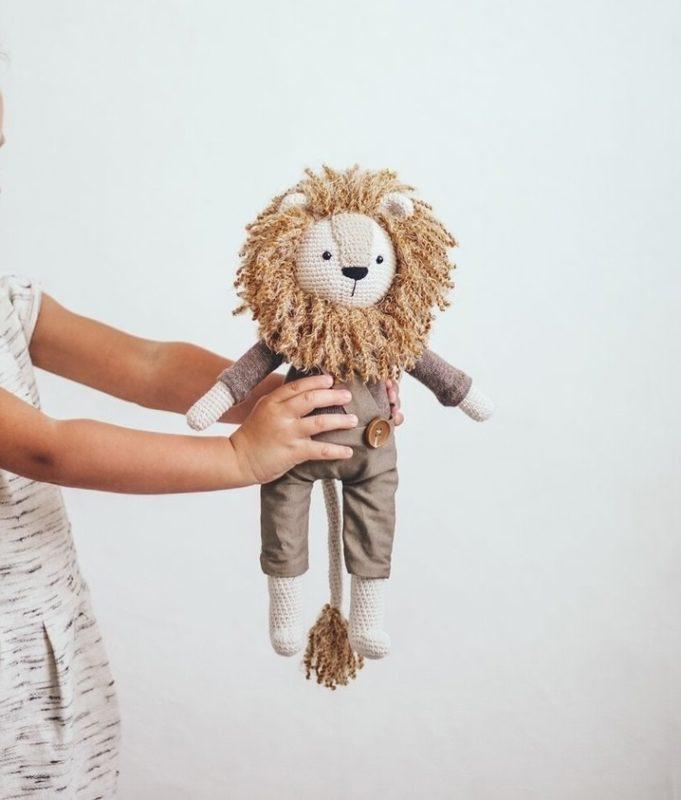 Амигуруми схема льва Арчи крючком с пошаговым описанием и фото