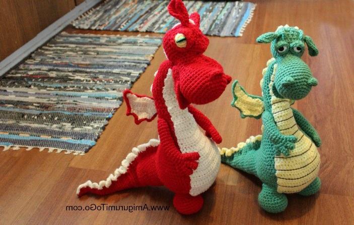 Схема вязания амигуруми дракона с переводом