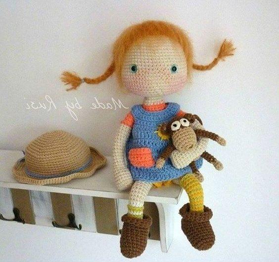 Куколка Лили крючком с полным переводом и описанием