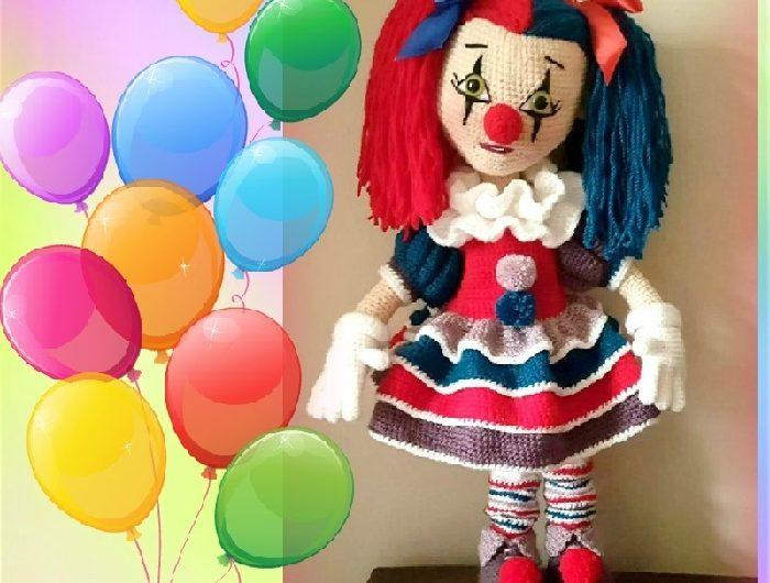 Амигуруми схема вязания куклы клоуна крючком с полным описанием