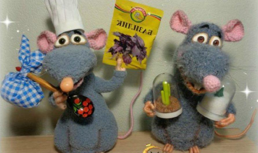 Схема вязания мышонка Реми из мультфильма «Рататуй»