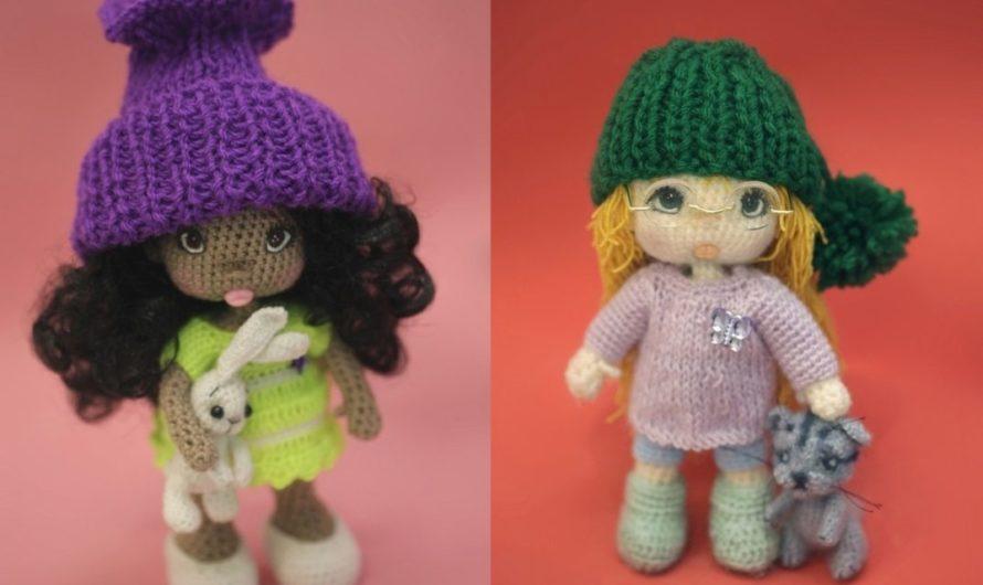 Схема вязания куклы крючком по имени Дина