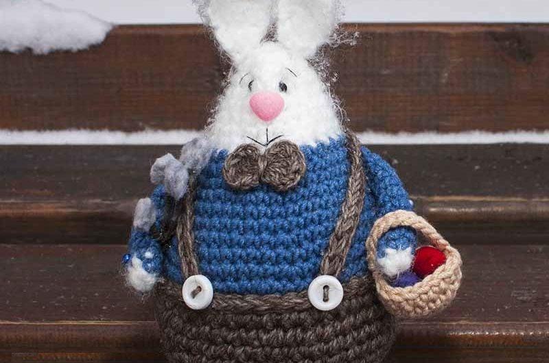 Видео МК по вязанию пасхального кролика