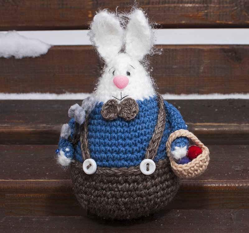 Схема вязания пасхального кролика крючком с видео МК