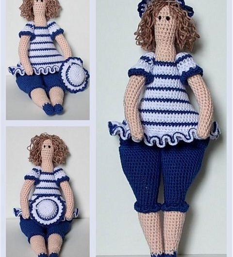 Амигуруми кукла тильда толстушка крючком с описанием схемы