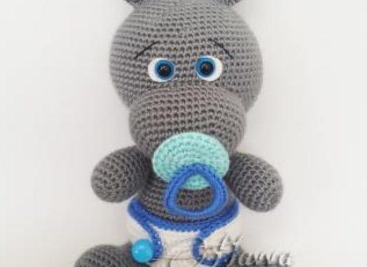 Схема вязания малыша гиппопотама крючком