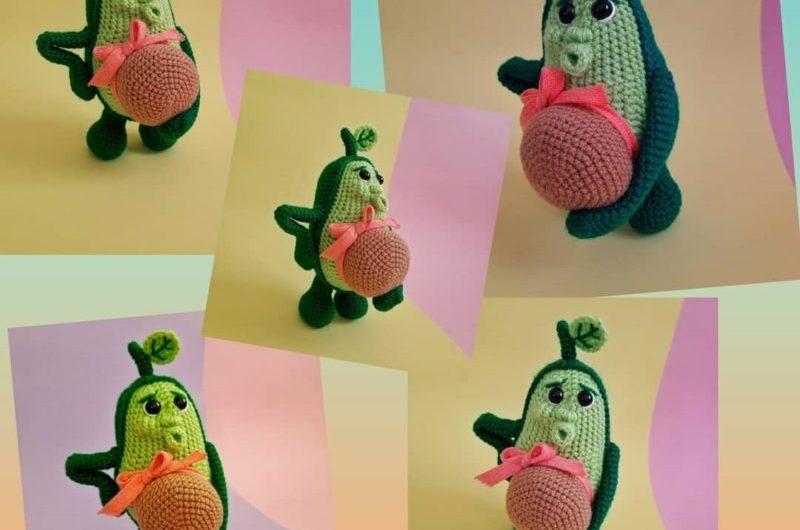 Схема вязания беременной авокадины крючком с описанием