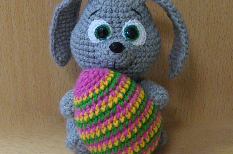 Схема вязания пасхального кролика крючком