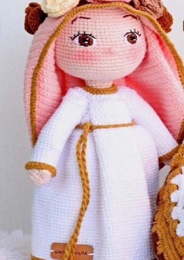 Вязаная крючком кукла Дева Мария с описанием и переводом