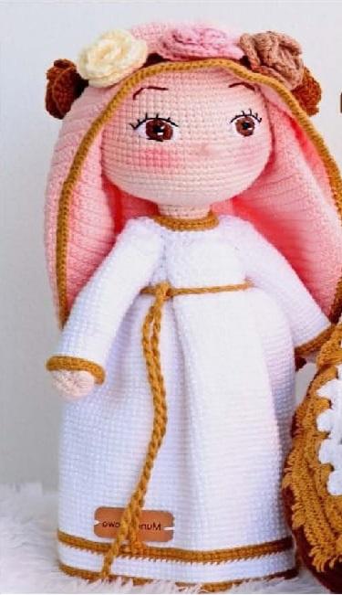 Схема вязания Девы Марии крючком с пошаговым описанием работы